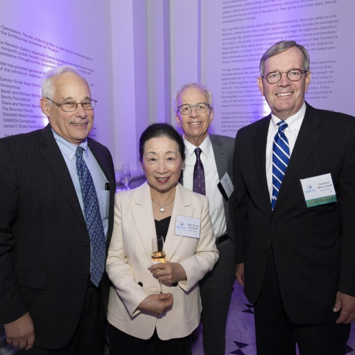 Don Berwick (NIHCM Advisory Board), Tsung-Mei Cheng Reinhardt (Research Award Judge), W. David Helms (NIHCM Board) and Governor Mike Leavitt (NIHCM Advisory Board), The Renwick, 2018