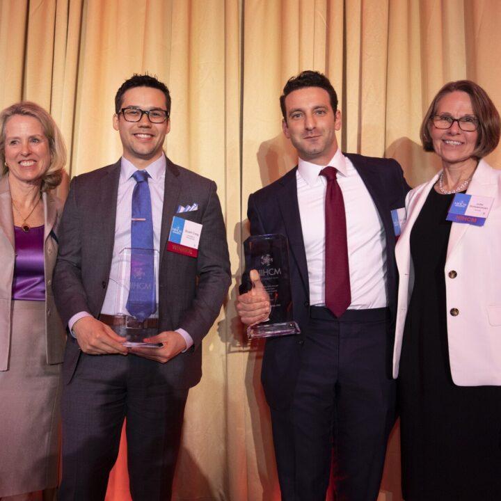 Stuart Craig, Zack Cooper (Research Award Winners, 2019) and Julie Schoenman (NIHCM Foundation)